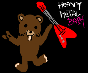 Pedobear goes heavy metal