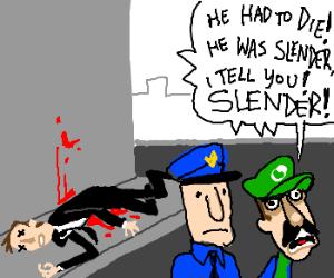Luigi arrested for death Slenderman