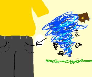 Tornado in pocket