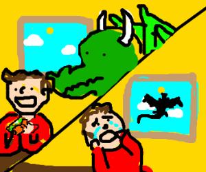 boy's dragon flies away he eats   tacos