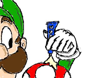 Luigi uses mushrooms the wrong way...