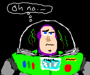 Buzz lightyear sharts his suit