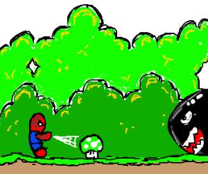 Super Mario World Spider Man Edition