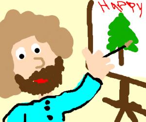 Bob Ross Paints Happy Trees