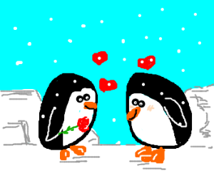 Penguins in loove