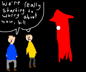 Bill the squid's friends are worried about him