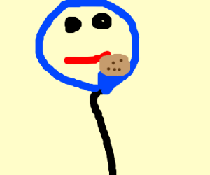 Cookie Monster as a balloon