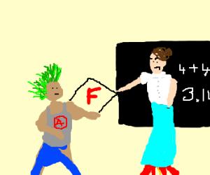 Math teacher fails a punk