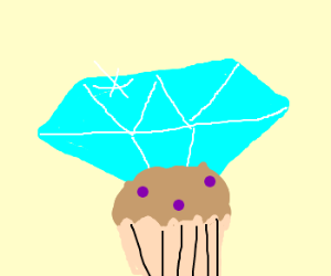 This diamond muffin it´s for you. Marry me ^^!
