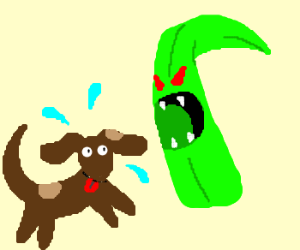 Dog gets eaten by a blade of grass