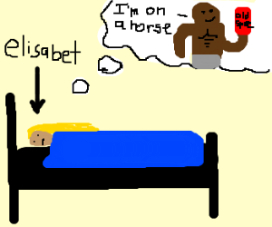 Elisabet dreamed about Mustafa