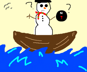 snowman lost at sea