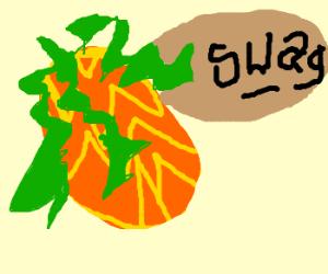 Pineapple-head steals swag again!