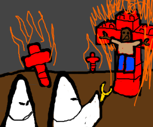 KKK Legos 18+ includes burning crosses