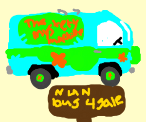 Mystery Machine disguised as as a nun-bus!