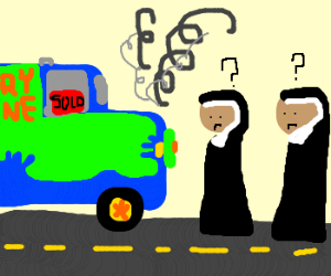 Mystery machine sold to nuns and broke down