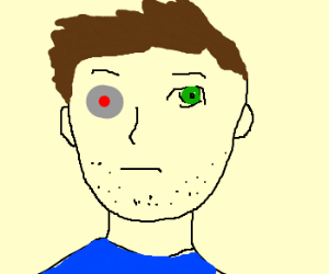 A man with a mechanical eye