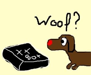 XXBox confuses dog