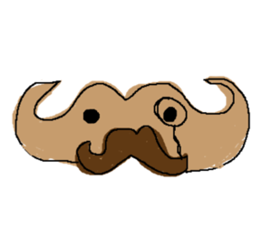 mustache with a mustache and monocle