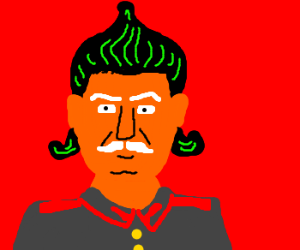 Stalin is turning into an Oompa Loompa