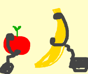 Apple and Banana have good phone conversations
