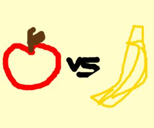 apple vs banana