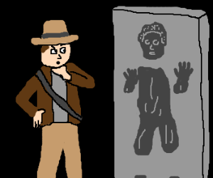 Indy Jones finds Solo in carbonite.