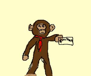 Chimpanzee has a fake human ID