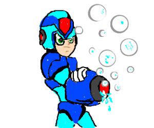 Megaman malfunctions.