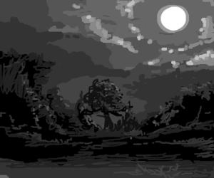 last night even the moon was sad