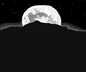 Full Moon over landscape