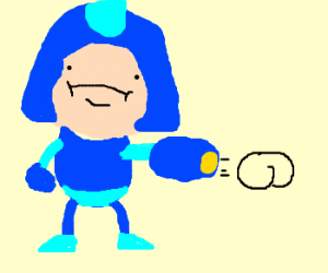 Mega Man forgot which weapon he was using