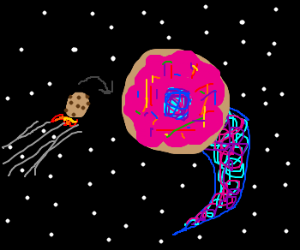 Time traveling Cookie Doughnut Wormhole