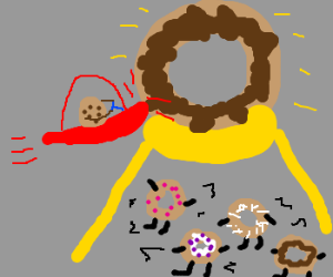Cookie crashes into donut world