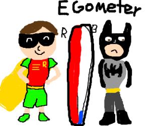 Robin's ego is bigger even than Batman's!