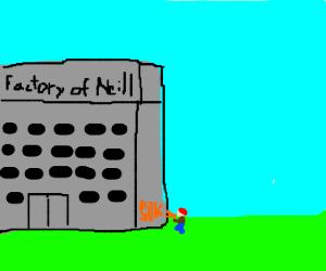 Neill's factory gets a graffiti