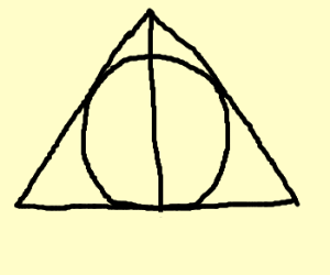 the deathly hallows sign (harry potter)