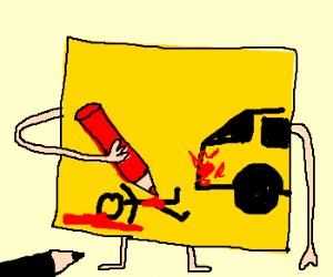 Post it man kills kid with van
