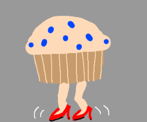 muffin in high heels