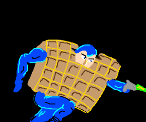 Megaman receives waffle power up