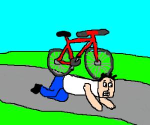 Bicycle rides man