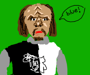 Worf acts like Lancelot from Monty Python