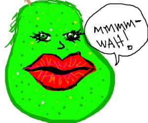 Pear had botox applied.