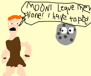 Hercules can't pee w/the moon watching!