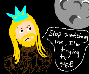 Nordic king speaks to the moon.