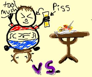 Man Vs Food- Better Drink My Own Píss