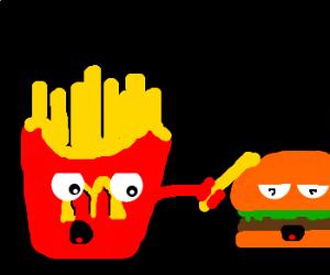 Mcdonalds fries PWNS a hamburger