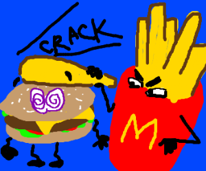 McFries beats burger with part of himself