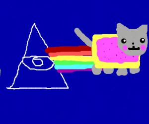 Nyan cat in the illuminati