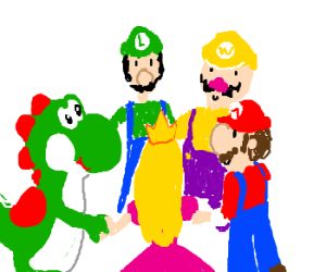 Mario and friends play ring around the rosie
